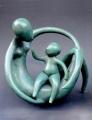 Yin & Yang - bronze ed/10, 26cm(h) - $2800