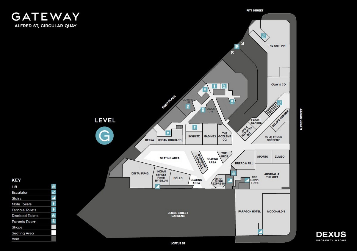 Centre Map - Gateway Building, Sydney