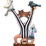LOLA KAPLAN 'Circus Strongman' [Fabric/Acrylic]